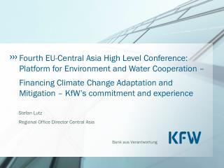 Stefan Lutz Regional Office Director Central Asia