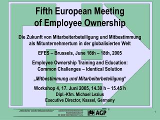 Fifth European Meeting  of Employee Ownership