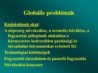 Glob ális problémák