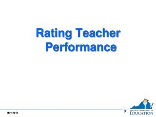 Rating Teacher Performance