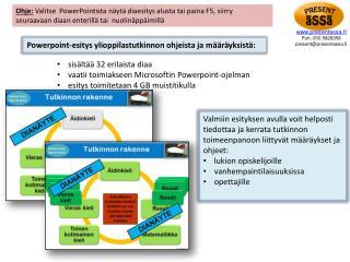 Powerpoint-esitys  ylioppilastutkinnon ohjeista ja määräyksistä: