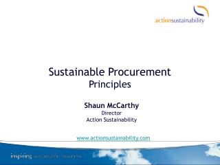 Sustainable Procurement Principles
