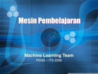Mesin Pembelajaran