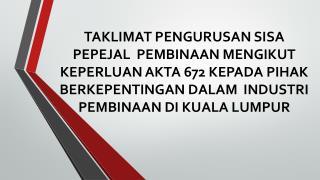 ADAKAH INI SIKAP MASYARAKAT MALAYSIA?