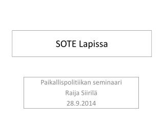 SOTE Lapissa