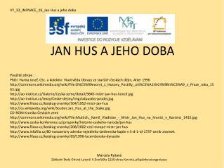 VY_32_INOVACE_19_Jan Hus a jeho doba