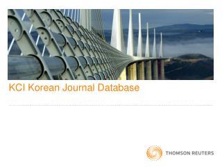 KCI Korean Journal Database