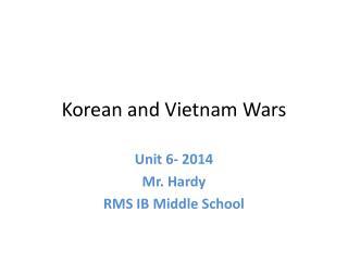 Korean and Vietnam Wars