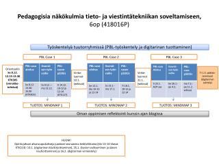 Pedagogisia näkökulmia tieto- ja viestintätekniikan soveltamiseen, 6op (418016P)