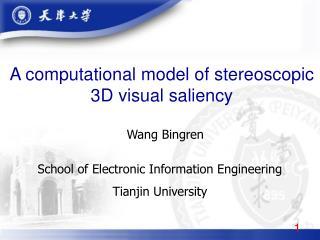 A computational model of stereoscopic 3D visual saliency