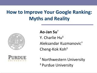 How to Improve Your Google Ranking: Myths and Reality
