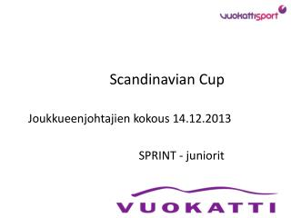 Scandinavian  Cup   Joukkueenjohtajien kokous 14.12.2013