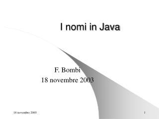 I nomi in Java