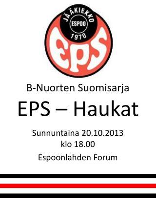 B-Nuorten  Suomisarja EPS – Haukat