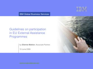 Guidelines on participation  in EU External Assistance Programmes