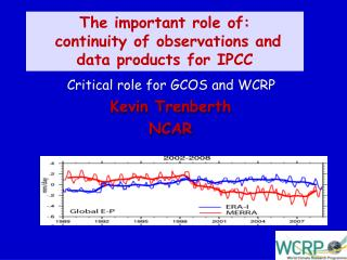 The important role of:  continuity of observations and data products for IPCC