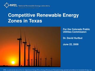 Competitive Renewable Energy Zones in Texas