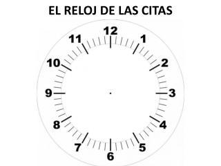EL RELOJ DE LAS CITAS