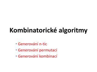 Kombinatorické algoritmy