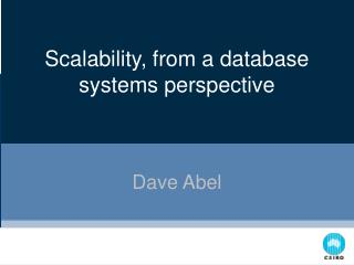 Scalability, from a database systems perspective