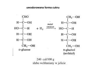 uwodorowana forma cukru