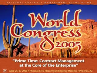 Breakout Session # 604,  Changing Role of the Contract Manager David Bechler, PE, MBA, PMP