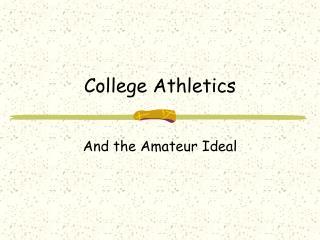College Athletics