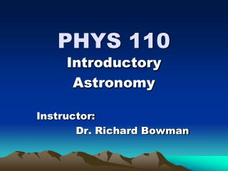 PHYS 110