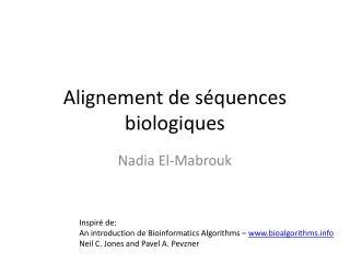 Alignement  de  séquences biologiques