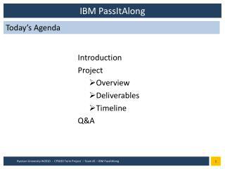 IBM  PassItAlong