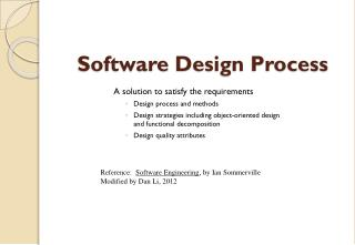 Software  Design Process