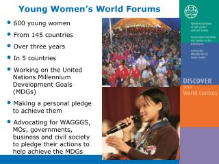 600 young women   From 145 countries   Over three years   In 5 countries