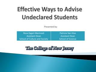 Effective Ways to Advise Undeclared Students