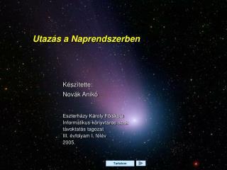 Utaz�s a Naprendszerben