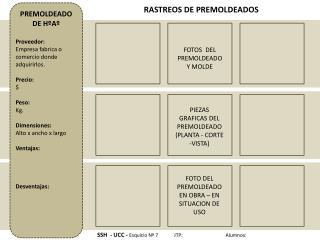 PIEZAS GRAFICAS DEL PREMOLDEADO (PLANTA - CORTE -VISTA)