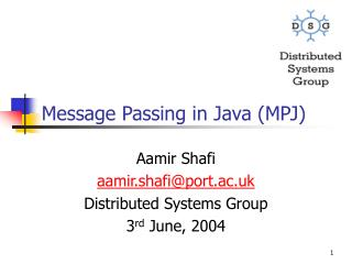 Message Passing in Java (MPJ)