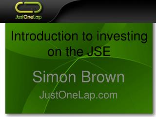 Introduction to investing on the JSE