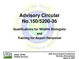 Advisory Circular No.150