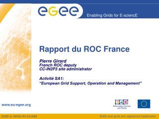 Rapport du ROC France