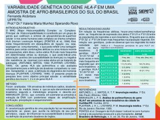 INTRODUÇÃO/OBJETIVO O   MHC   (Major   Histocompatibility   Complex    ou    Complexo