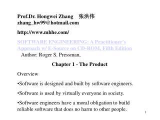 Prof.Dr. Hongwei Zhang     张洪伟   zhang_hw99@hotmail mhhe/