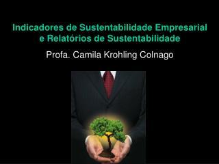 Indicadores de Sustentabilidade Empresarial e Relatórios de Sustentabilidade