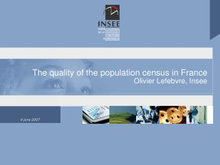 The quality of the population census in France