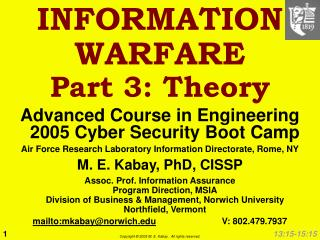 INFORMATION WARFARE Part 3: Theory