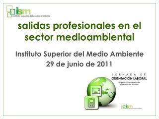 salidas profesionales en el sector medioambiental