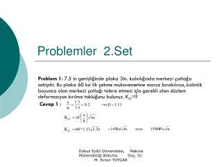 Problemler  2.Set