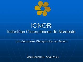 IONOR Indústrias Oleoquímicas do Nordeste