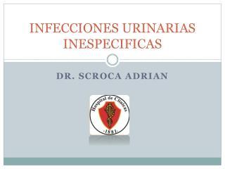 INFECCIONES URINARIAS INESPECIFICAS