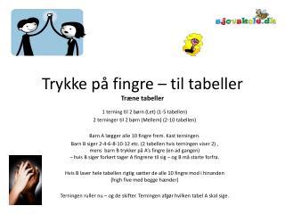 Trykke p  fingre   til tabeller Tr ne tabeller