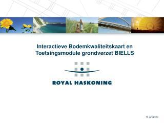 Interactieve Bodemkwaliteitskaart en Toetsingsmodule grondverzet BIELLS